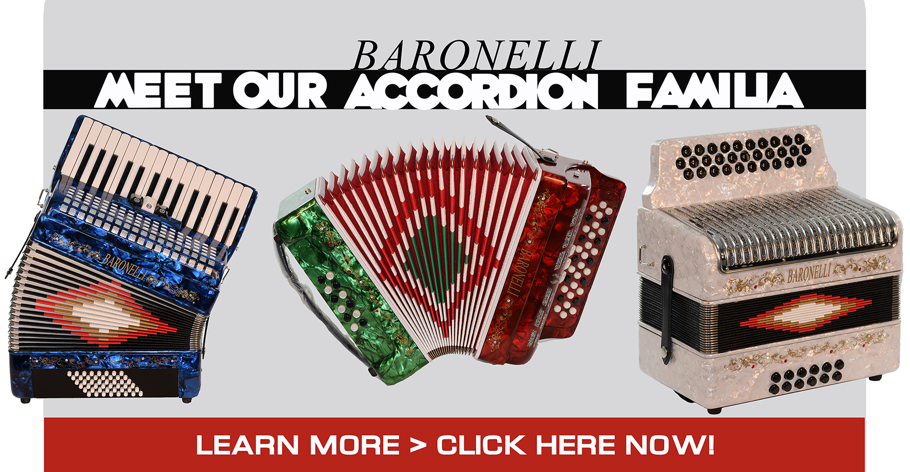BARONELLI ACCORDION FAMILIA BRIDGECRAFT USA