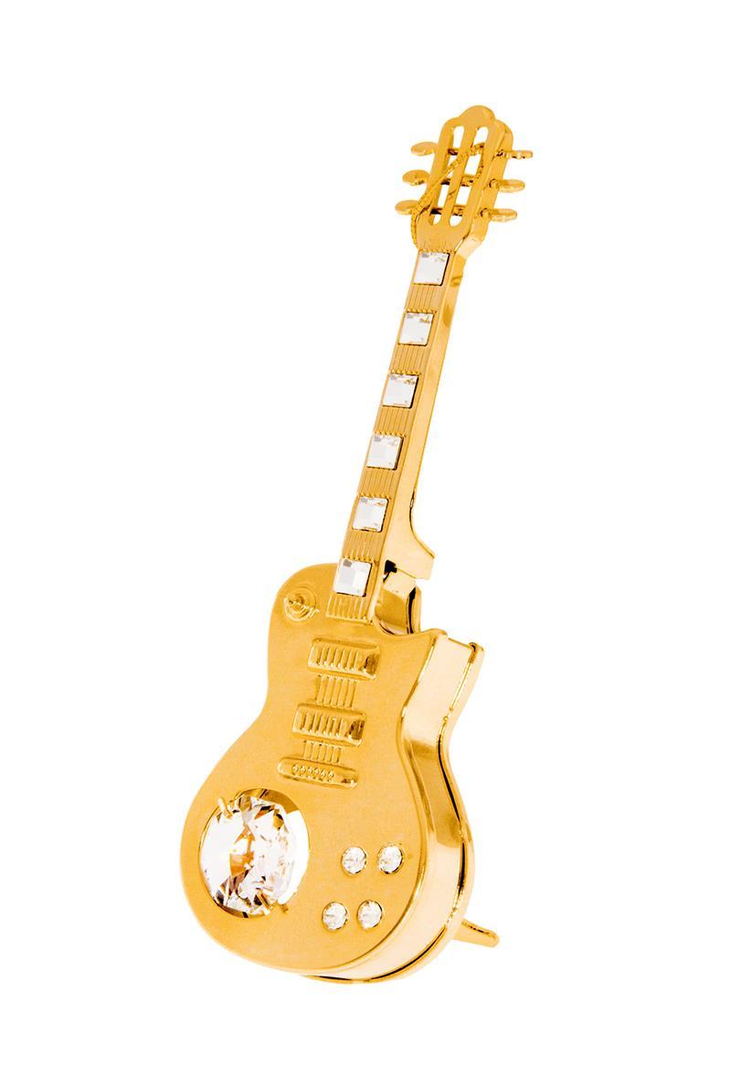 electric guitar c 0379 24k gold plated figurine with swarovski crystals. Black Bedroom Furniture Sets. Home Design Ideas
