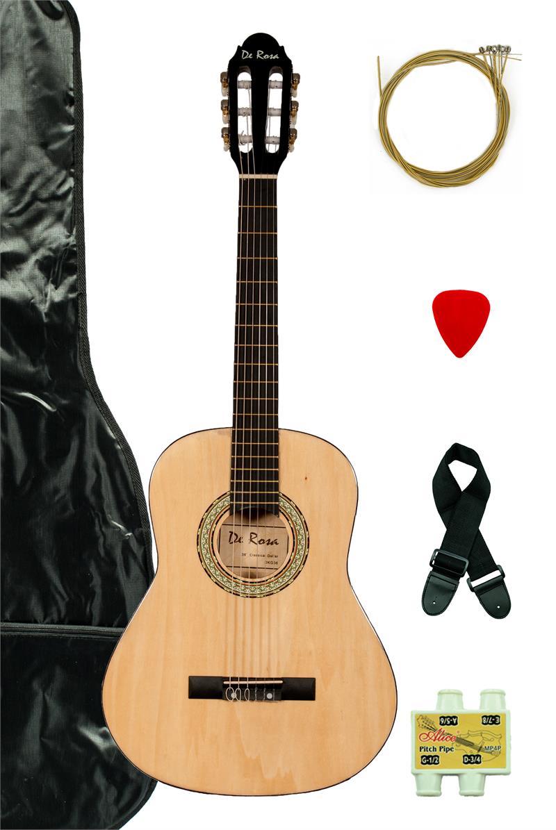 de rosa dkf36 nt kids classical guitar outfit natural. Black Bedroom Furniture Sets. Home Design Ideas