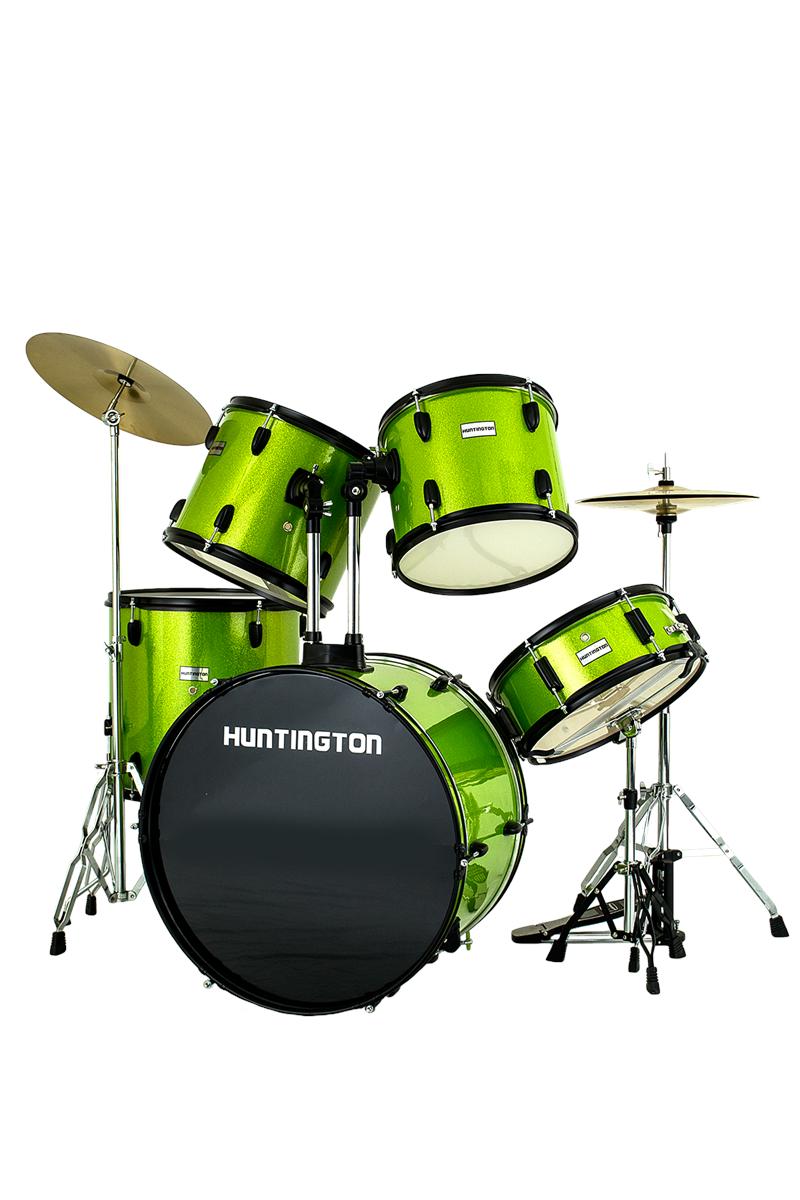 Huntington Drm500 Sgr 5 Piece Drum Kit Sparkle Green