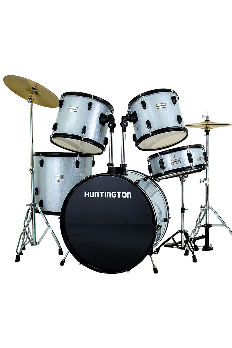 Huntington Drm500 Ssl 5 Piece Drum Kit Sparkle Silver