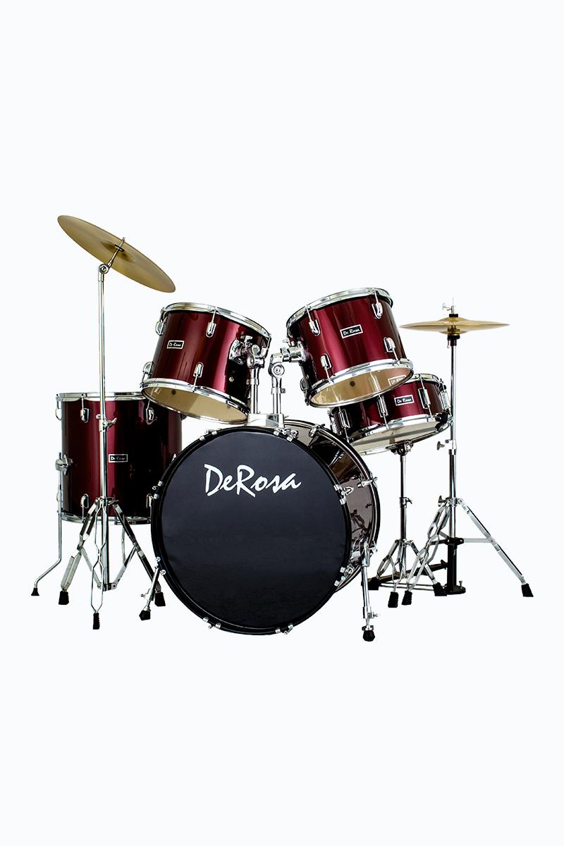 de rosa drm522 wrd 5 piece drum kit wine red. Black Bedroom Furniture Sets. Home Design Ideas