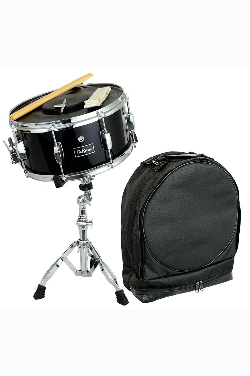 "De Rosa DRMS14-BK 14"" Snare Drum Kit Black"