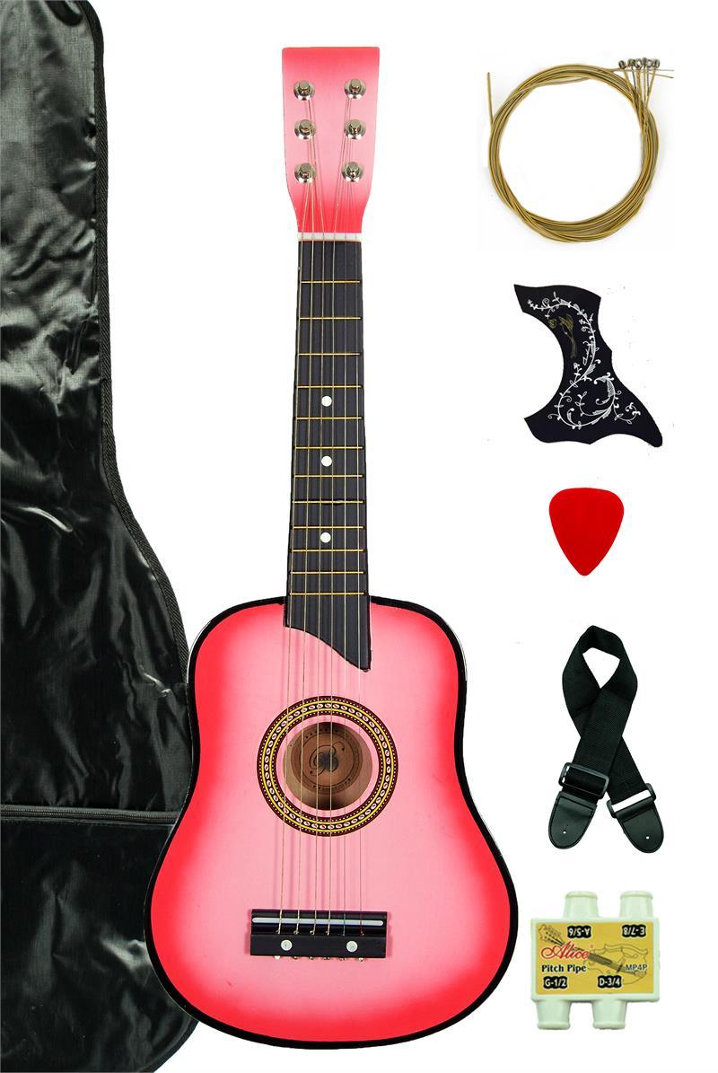 kids 25 toy guitar ga2511r pk pink. Black Bedroom Furniture Sets. Home Design Ideas