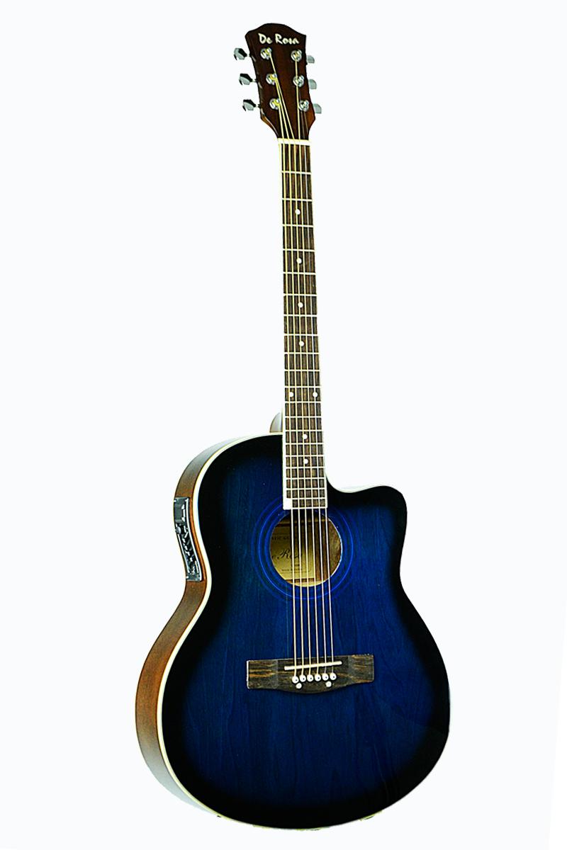 De Rosa Ga700ce Bls Cutaway Acoustic Electric Thin Body Guitar