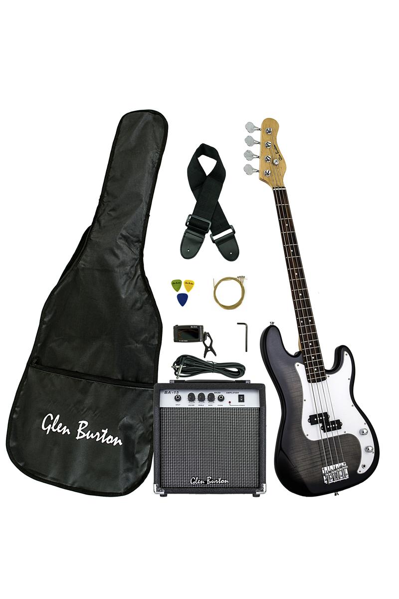 Glen Burton Gb150bco Bks Solid Body Electric Bass Guitar Combo