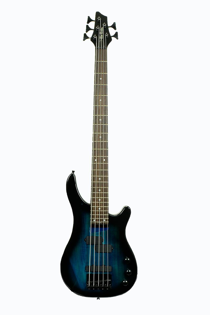 Glen Burton Gbkeb Bls 5 String Solid Body Electric Bass Guitar