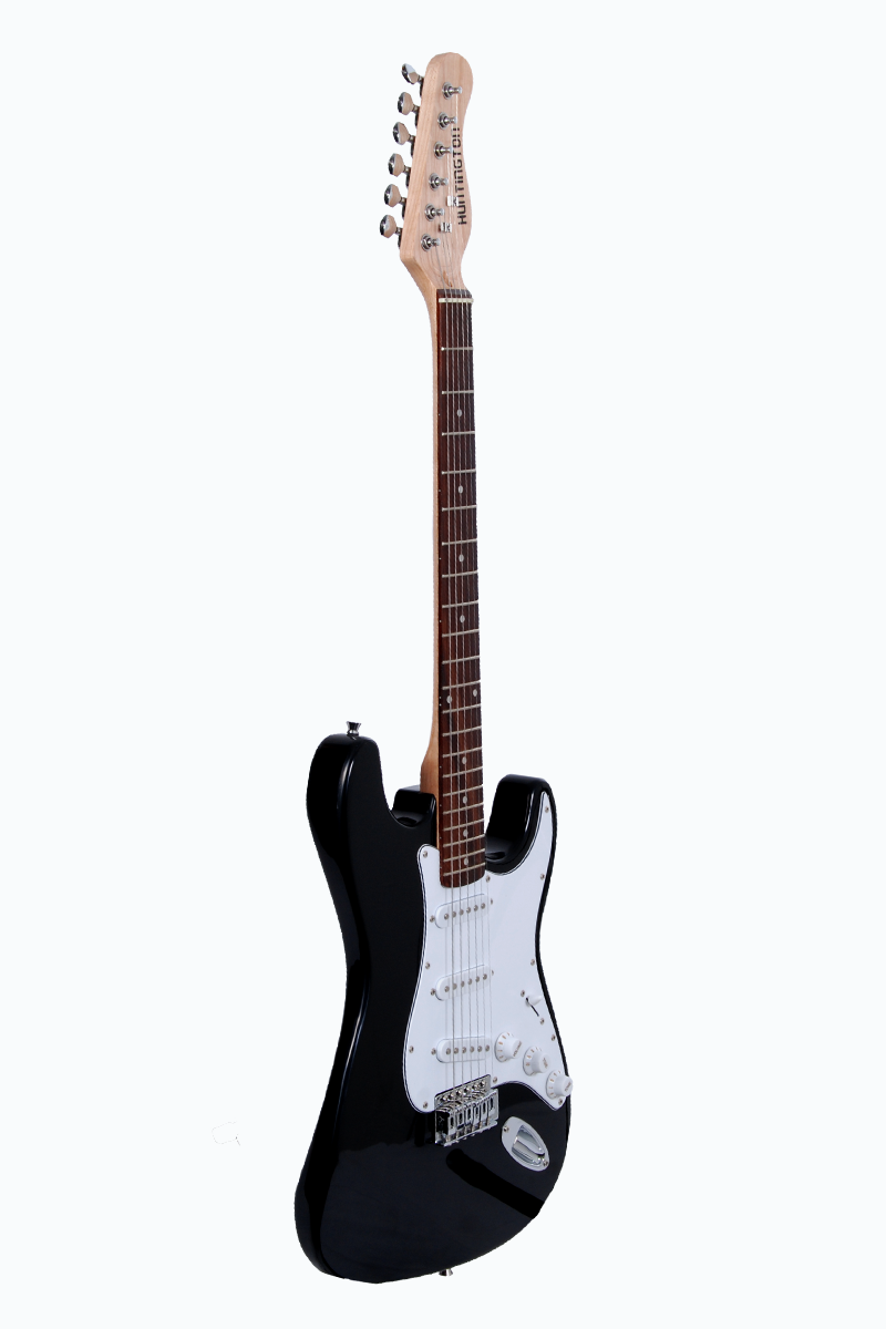 huntington ge139 bk outlaw solid body s type electric guitar. Black Bedroom Furniture Sets. Home Design Ideas