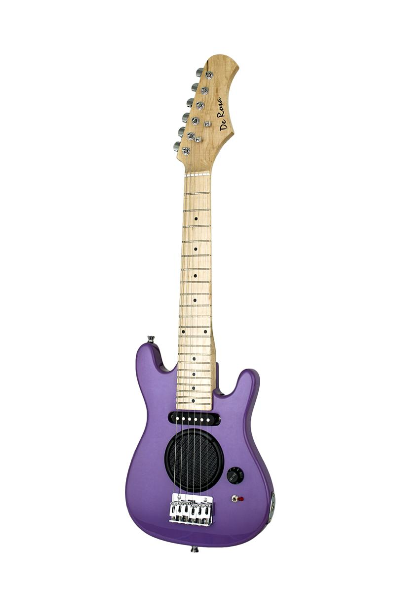 De Rosa Ge30 Ast Pl Guitar With Built In Amp Purple