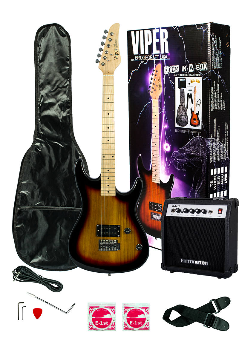 Viper Ge93co Ts Solid Body Electric Guitar Combo Package