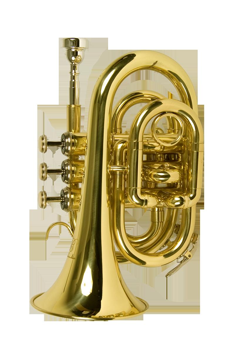 B - U.S.A. WTR-PK-LQ Pocket Trumpet Lacquer - Gold Color