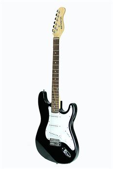 huntington ge139 bk outlaw solid body s type electric guitar. Black Bedroom Furniture Sets. Home Design Ideas